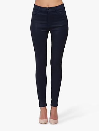 J Brand Maria High Rise Skinny Jeans, Coated Electric