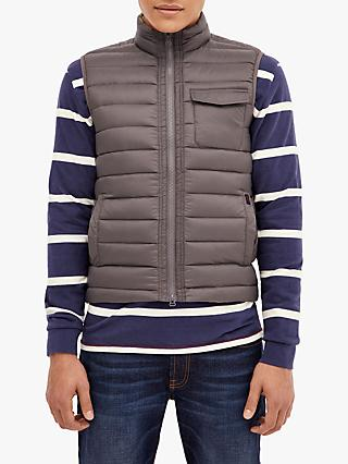 HKT Down-Filled Quilted Gilet, Grey