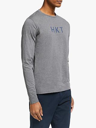 HKT Long Sleeve Cotton T-Shirt, Grey