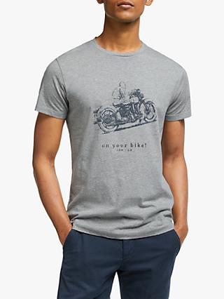 HKT Motorbike Graphic T-Shirt, Grey