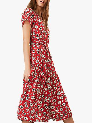 Phase Eight Daisy Ditsy Dress, Red/Multi