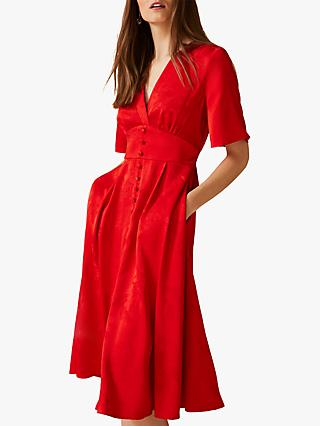 Phase Eight Caprice Jacquard Dress, Red