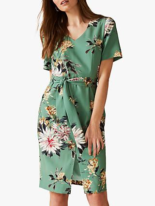 Phase Eight Deborah Floral Dress, Apple Green