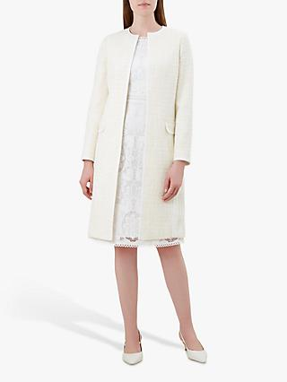 Hobbs Elva Coat, Ivory Yellow