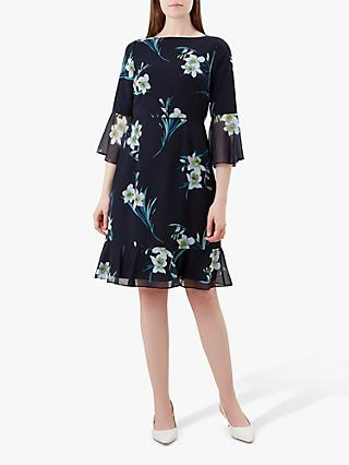 Hobbs Adriana Dress, Navy/Multi