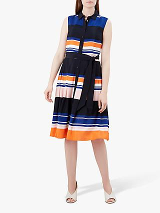 Hobbs Ethel Shirt Dress, Mango/Multi