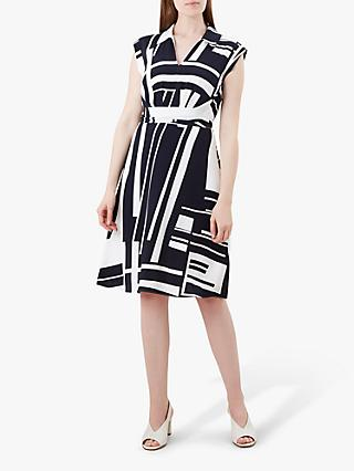 Hobbs Tahlia Dress, Navy/Ivory