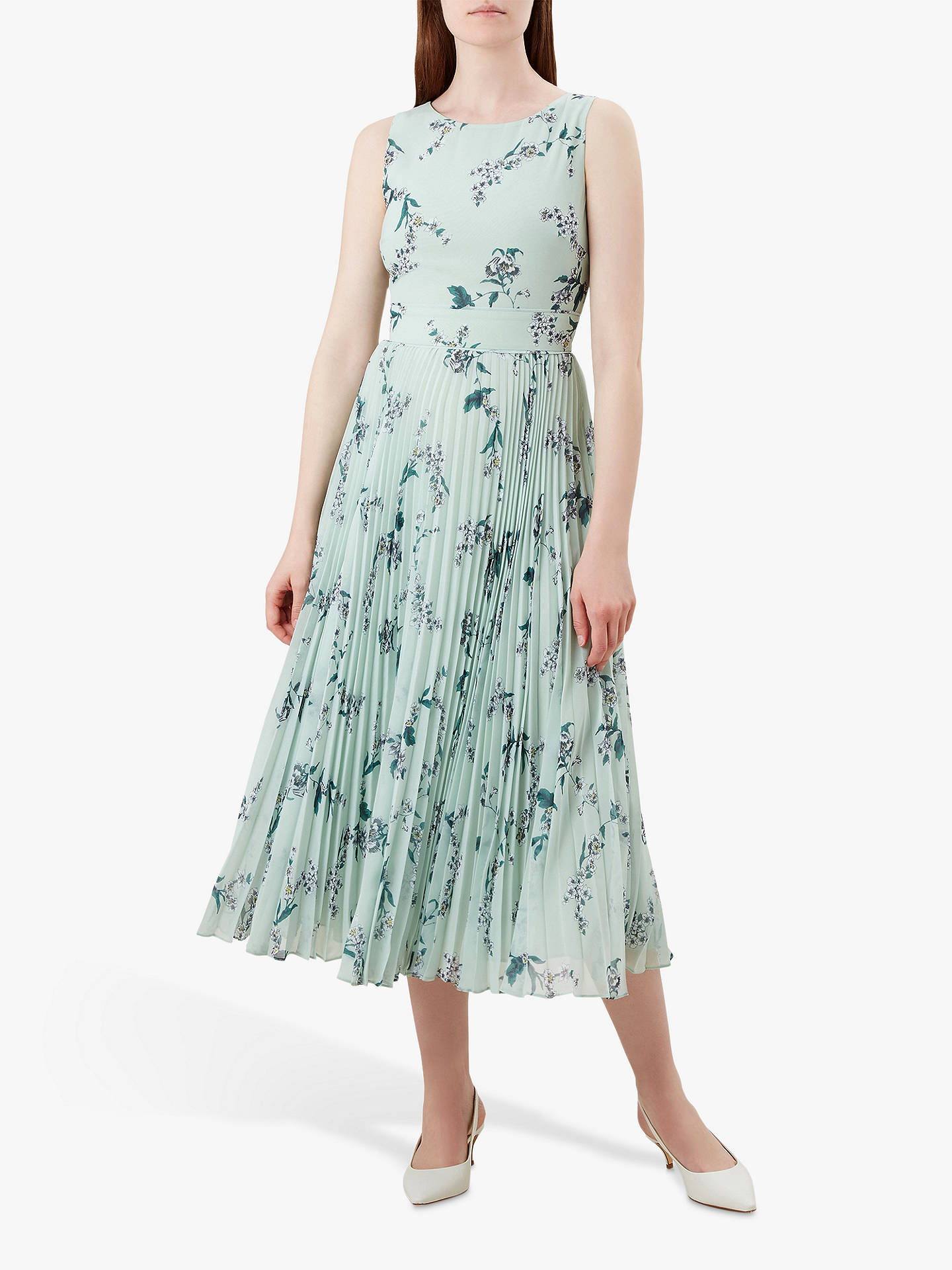 b397dca93c9f2 Buy Hobbs Celeste Dress, Mint, 6 Online at johnlewis.com ...