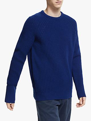 Barbour White Label Tynedale Crew Jumper, Inky Blue