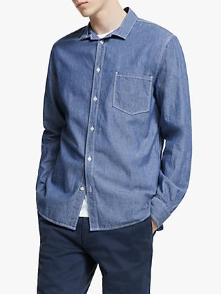 Barbour White Label Mile Castle Shirt, Blue Chambray