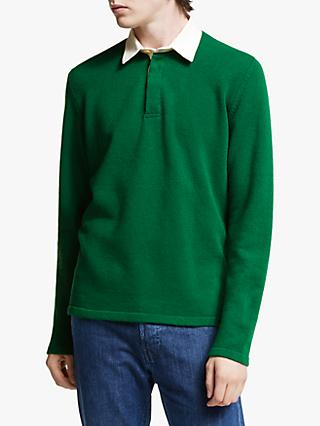 Barbour White Label Earl Knit Rugby Shirt, Green
