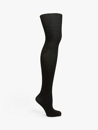 Buy John Lewis & Partners Cashmere Touch Opaque Tights, Black, S Online at johnlewis.com