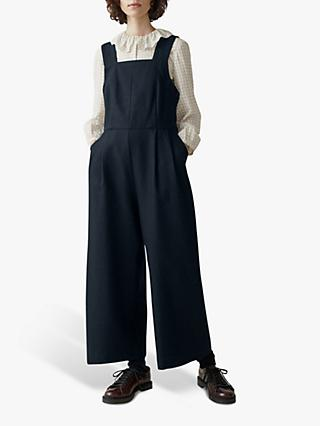 Toast Wool Linen Dungarees, Carbon