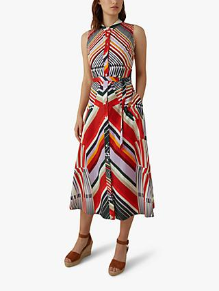 Karen Millen Abstract Pattern Cotton Dress, Multi
