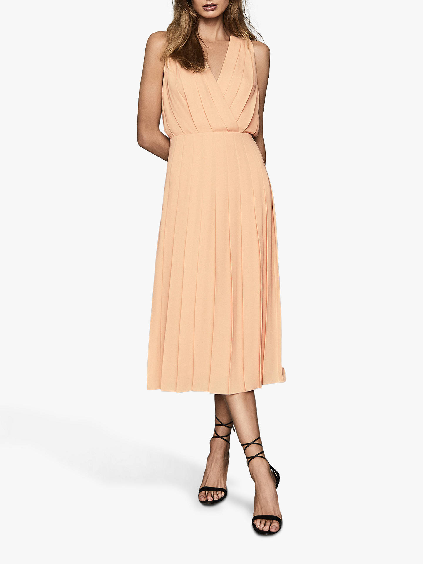 Reiss Mariona Pleated Midi Dress, Nude by Reiss