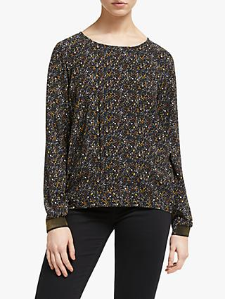 Numph Mary Long Sleeve Blouse, Caviar