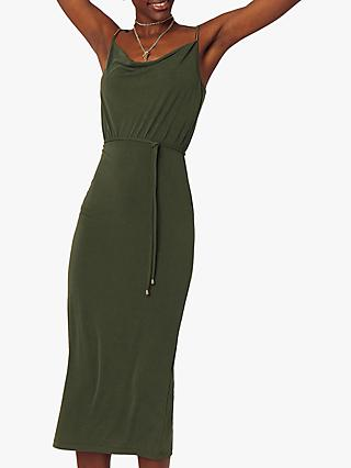 Oasis Cowl Neck Dress, Khaki