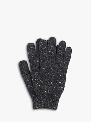 Barbour Donegal Wool Gloves, Charcoal