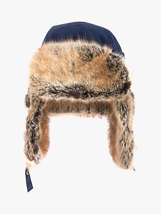 Barbour National Trust Faux Fur Lined Trapper Hat