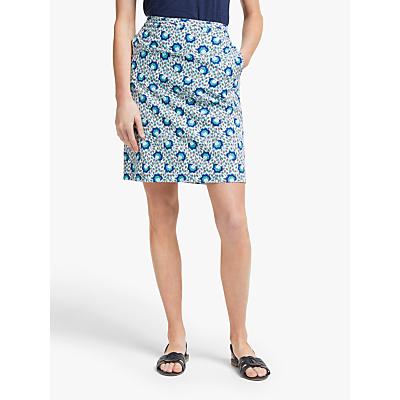 Boden Cotton A-Line Skirt, Indian Ocean