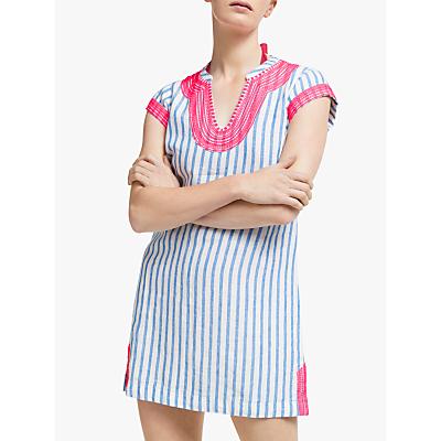 Boden Yasmin Linen Tunic Dress, Blue