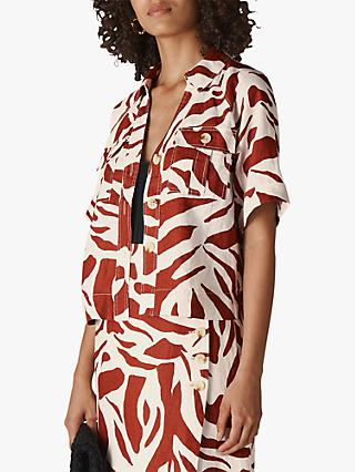 Whistles Zebra Linen Shirt, Multi