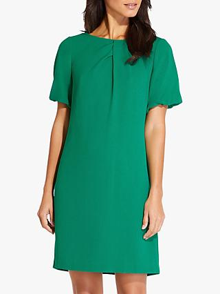 Adrianna Papell Puff Sleeve Shift Dress, Emerald