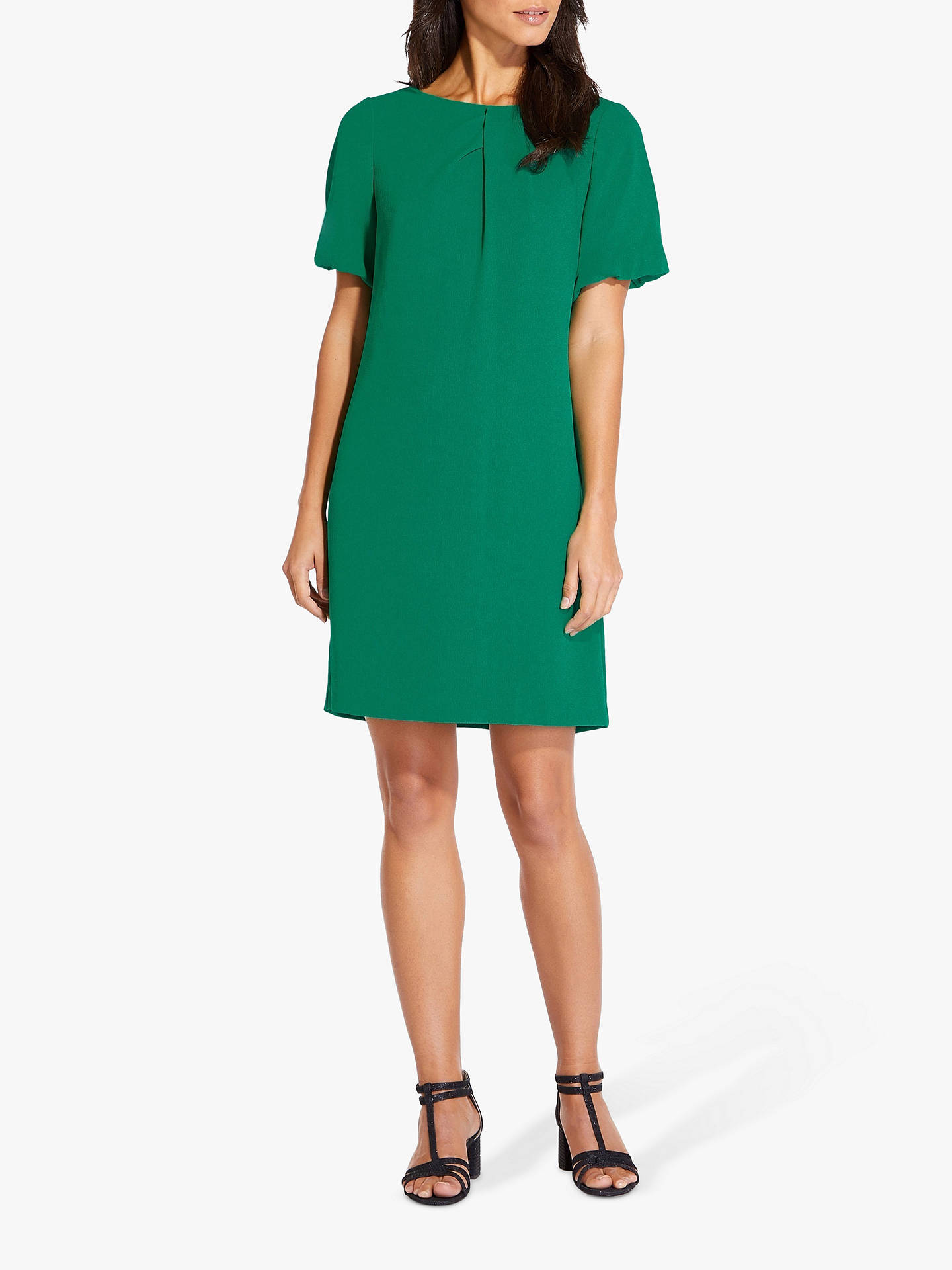 bde87e97 Buy Adrianna Papell Plus Puff Sleeve Shift Dress, Emerald, 20 Online at  johnlewis.