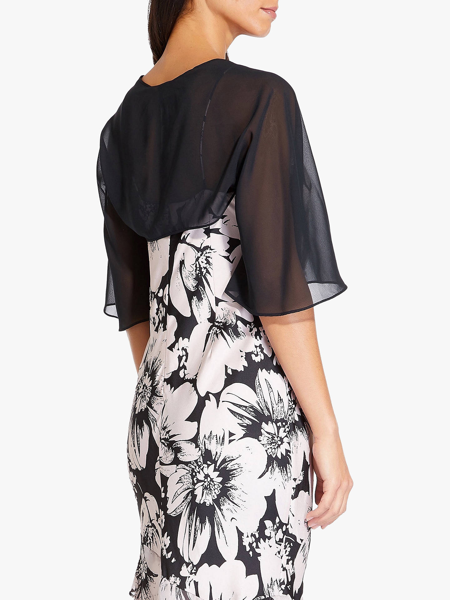 Buy Adrianna Papell Chiffon Shrug, Black, 18 Online at johnlewis.com