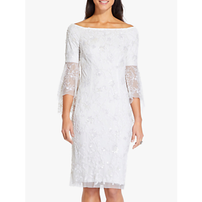 Adrianna Papell Off Shoulder Bell Dress, Ivory