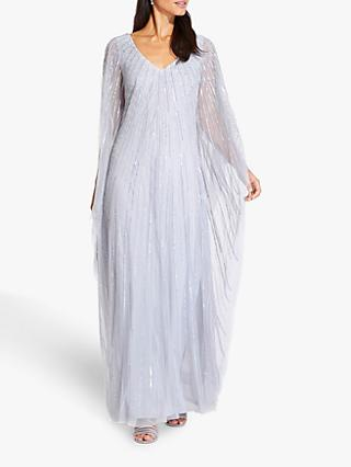 Adrianna Papell Beaded Kaftan Dress, Cloud