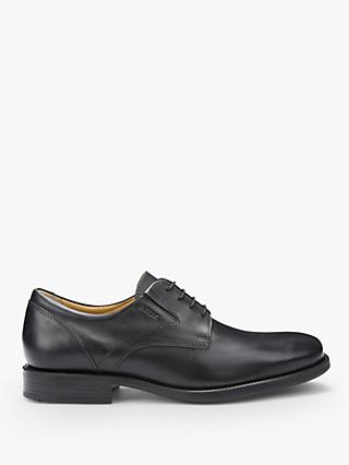 Geox Federico Plain Toe Derby Shoes, Black