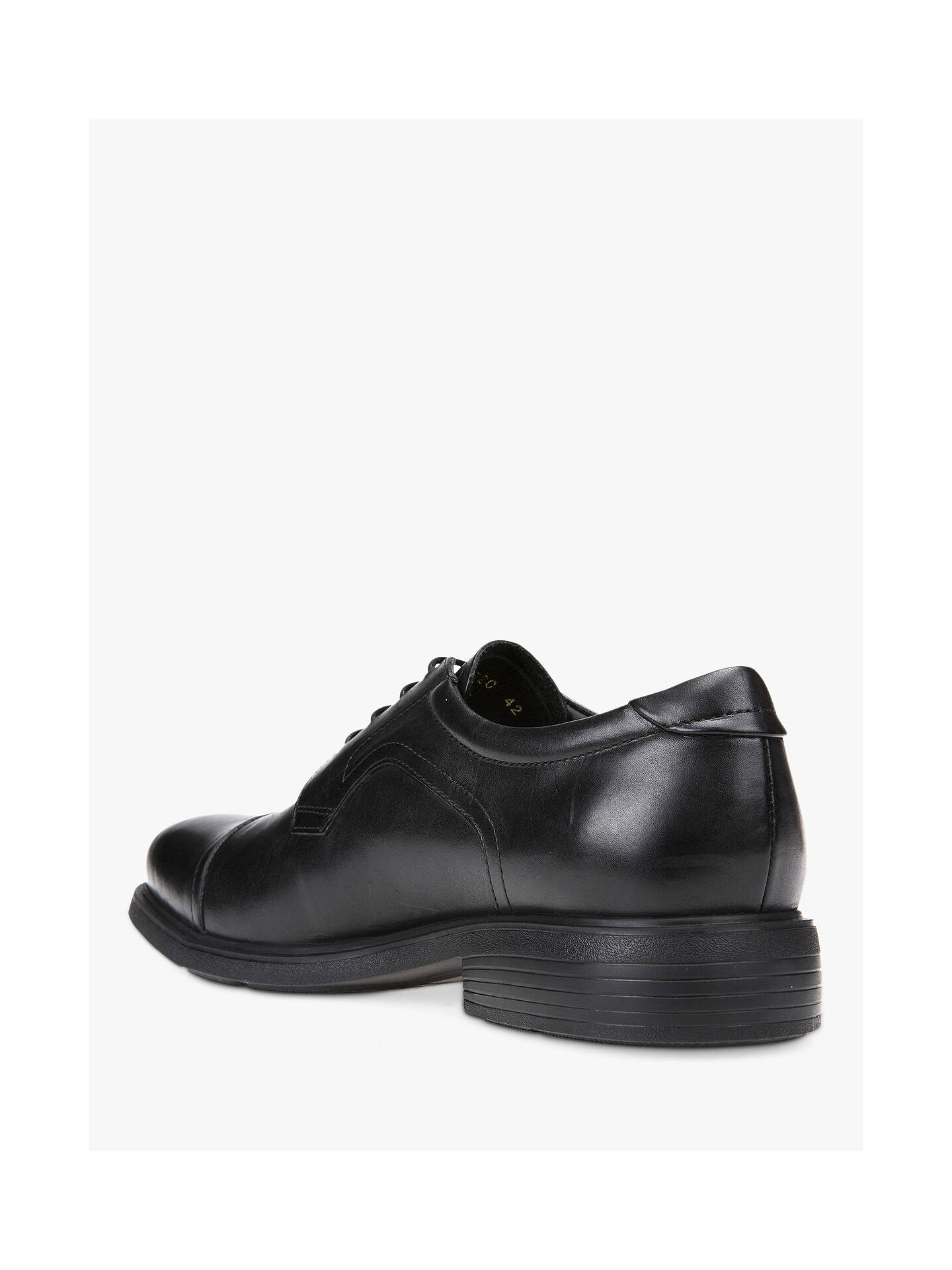 low priced 0436e e566e Geox Dublin Derby Shoes, Black at John Lewis & Partners
