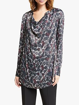 Modern Rarity Archive Cowl Neck Top, Black/Multi