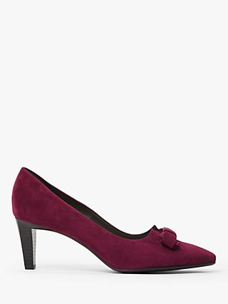 Peter Kaiser Maika Suede Bow Court Shoes, Jam