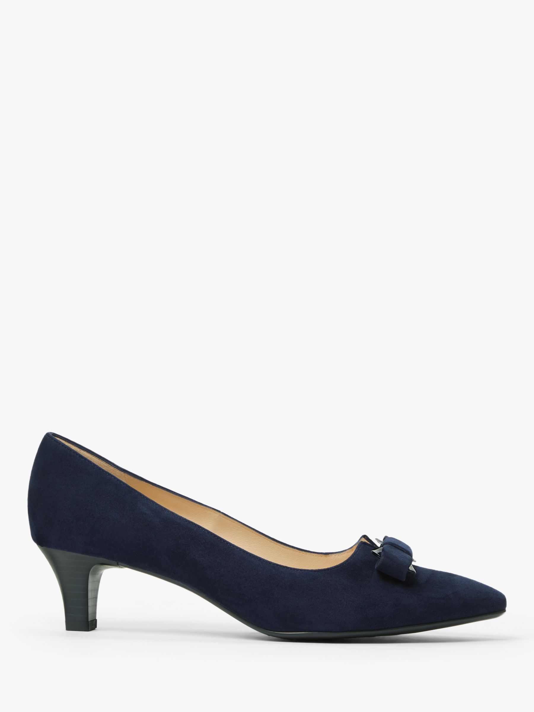 Peter Kaiser Peter Kaiser Saris Bow Detail Low Heel Court Shoes, Navy