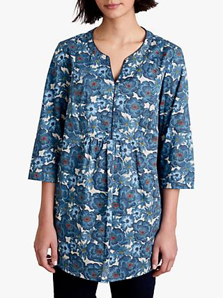 Seasalt Stonecrop Tunic Top, Floral Border Squall