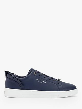 Ted Baker Astrina Leather Ruffle Trim Trainers