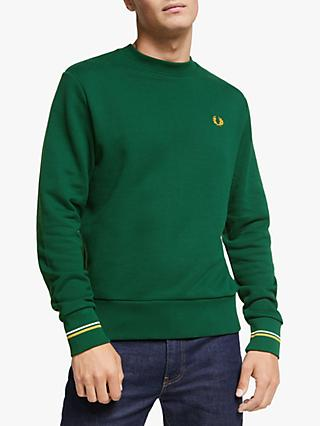 Fred Perry Crew Neck Sweatshirt, Ivy