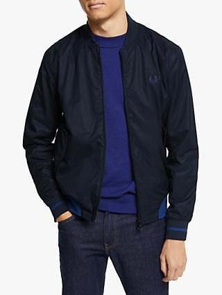 Fred Perry Twill Bomber Jacket, Navy