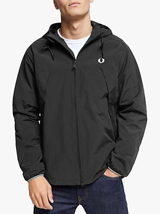 Fred Perry Panelled Zip Through Jacket, Black
