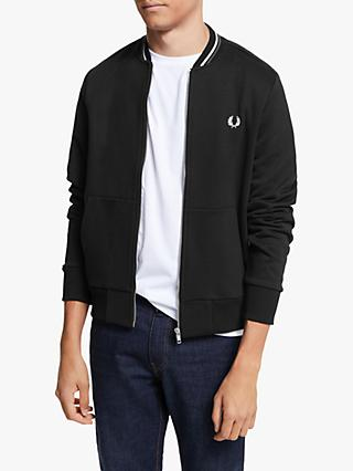 Fred Perry Zip Through Sweatshirt, Black