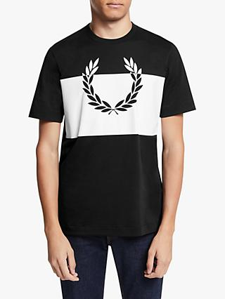 Fred Perry Printed Laurel Wreath T-Shirt, Black