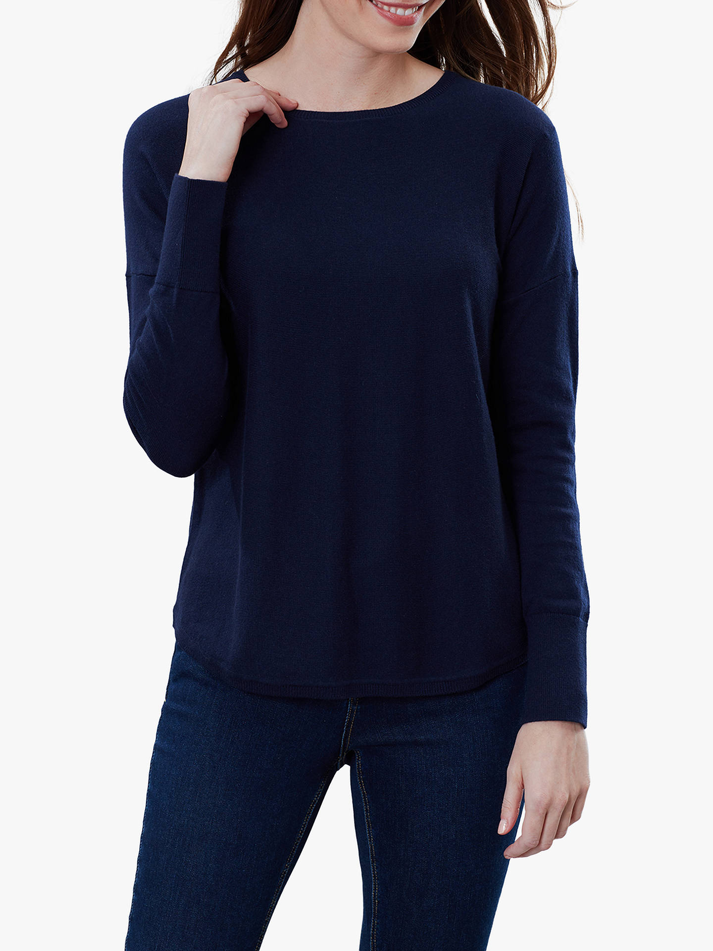 Buy Joules Poppy Cotton Round Neck Jumper, French Navy, 10 Online at johnlewis.com