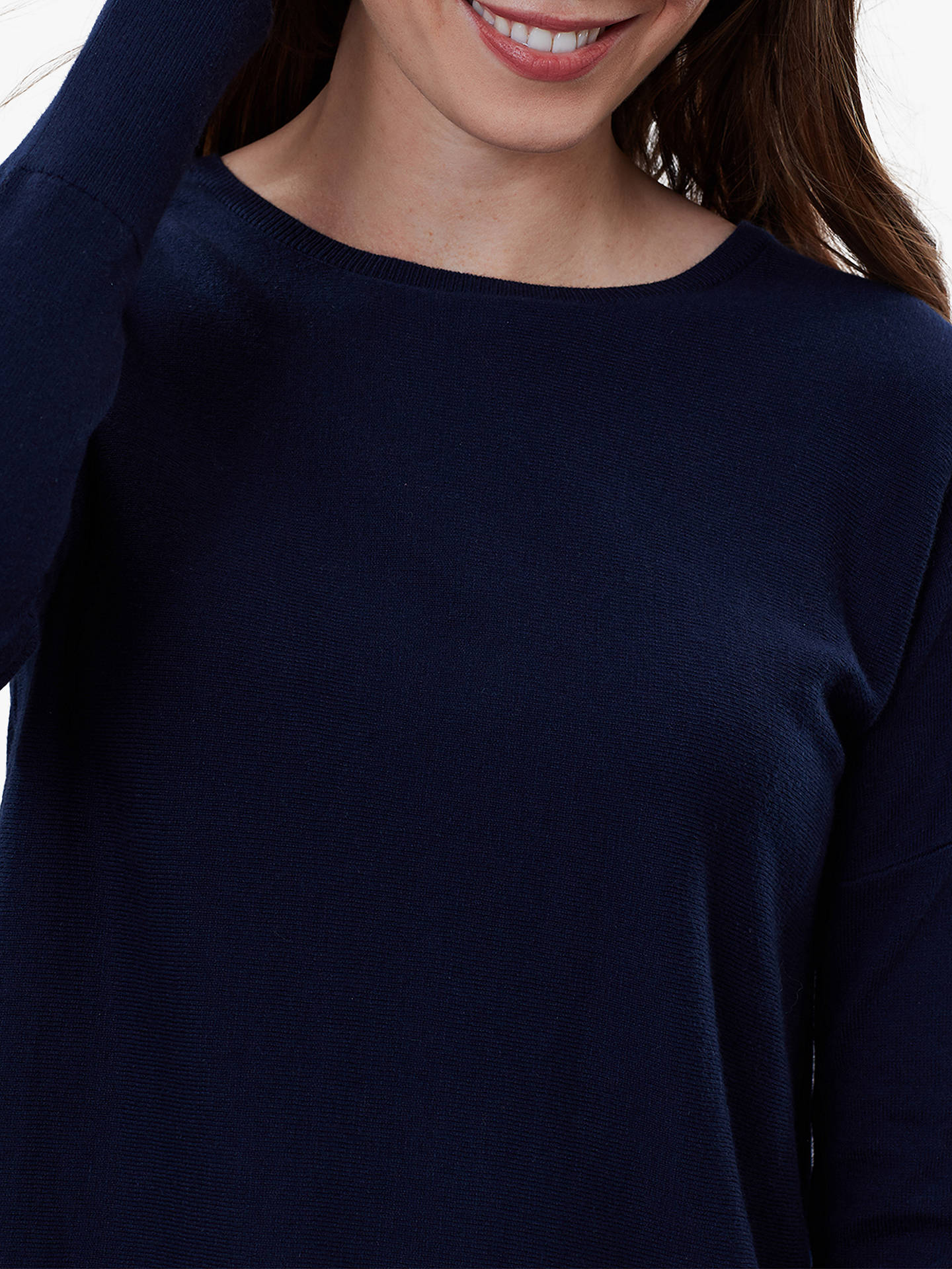 Buy Joules Poppy Cotton Round Neck Jumper, French Navy, 18 Online at johnlewis.com