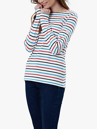 Joules Harbour Striped Jersey Top, Multi