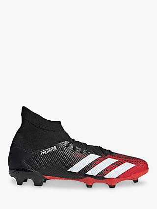 adidas Predator 20.3 Firm Ground Men's Football Boots, Core Black/FTWR White/Active Red