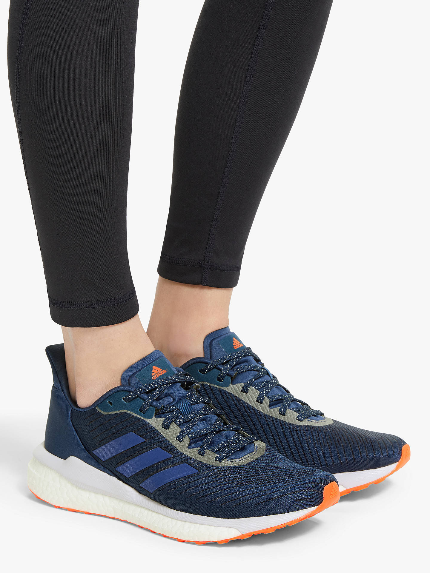 aniversario cráneo Especificado  adidas Solar Drive 19 Women's Running Shoes, Tech Indigo/Boost Blue Violet  Met./Purple Tint at John Lewis & Partners