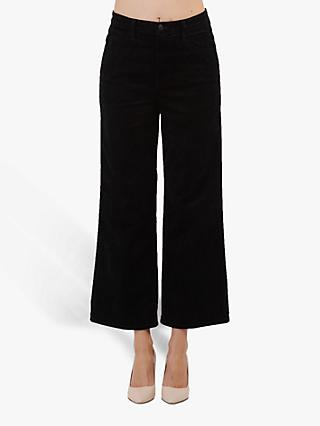 J Brand Joan High Rise Wide Leg Crop Jeans, Black