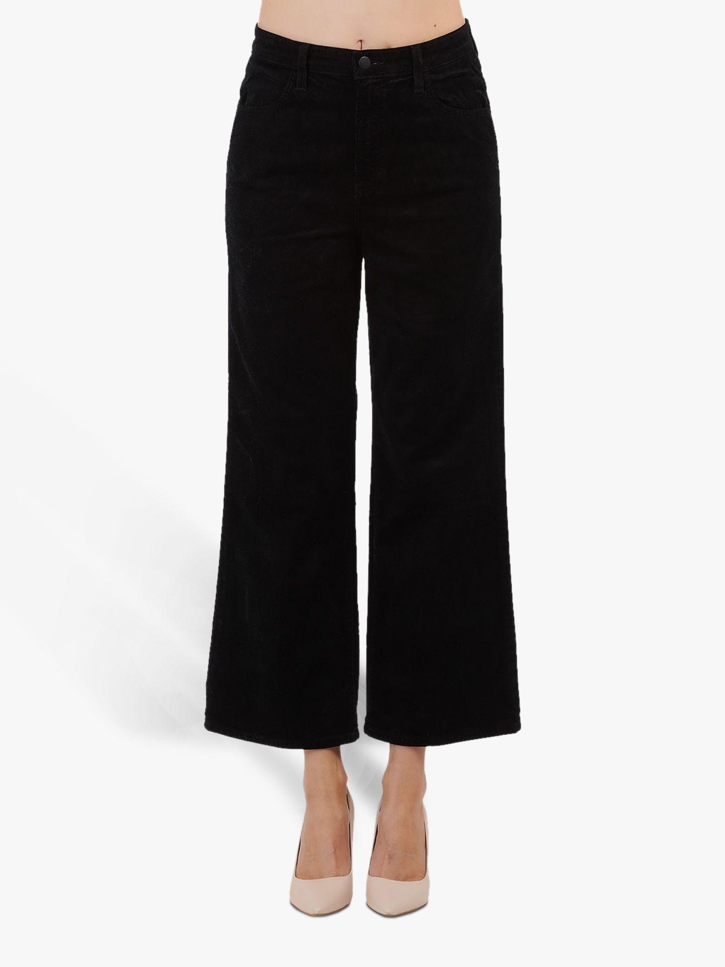 J Brand J Brand Joan High Rise Wide Leg Crop Jeans, Black